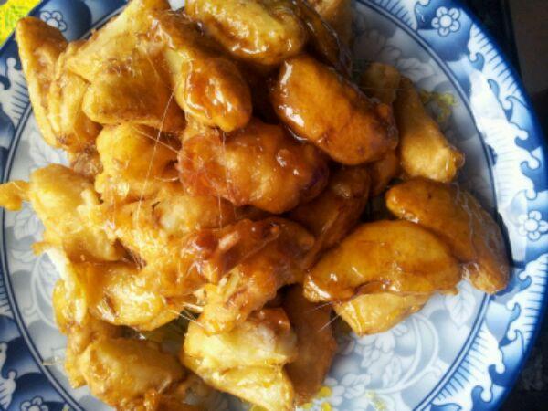 拔丝苹果的做法 拔丝苹果怎么做好吃 老玉米米米 分享的拔...