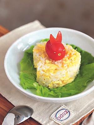 可爱小兔蛋炒饭
