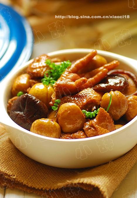 板栗烧鸡的做法 板栗烧鸡怎么做好吃 小辞xiaoci分享的板栗...