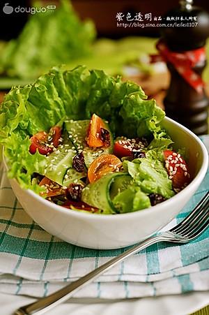 如何做芝麻蔬菜沙拉_做芝麻蔬菜沙拉的步骤