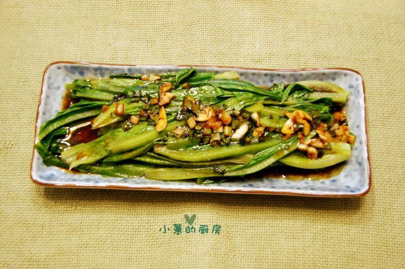 白灼油麦菜的做法_白灼油麦菜怎么做好吃【图文】_小蕙的厨房分享的白灼油麦菜的家常做法 - 豆果网