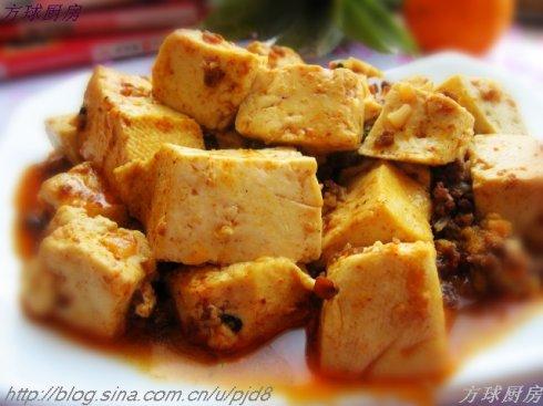 麻婆豆腐的做法 麻婆豆腐怎么做好吃 方方球分享的麻婆豆...