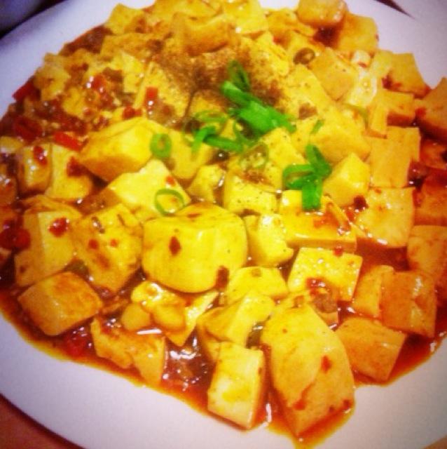 麻婆豆腐的做法 麻婆豆腐怎么做好吃 小七爱厨房分享的麻...