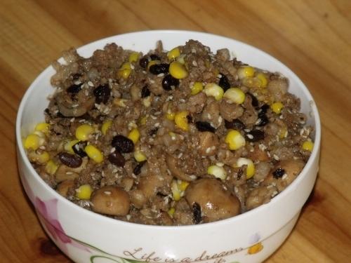 芝麻草菇草菇美食做法--豆果豆豉的肉酱_玉米区哪个顺德食多美最图片