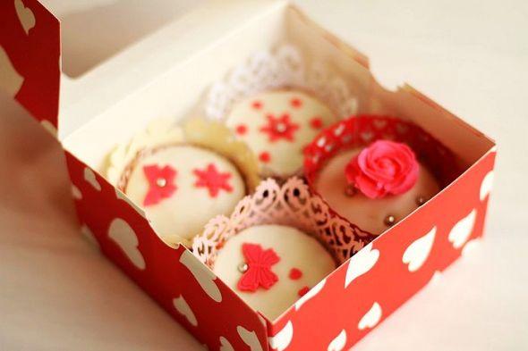 翻糖纸杯蛋糕(蝴蝶),翻糖纸杯蛋糕(雪之恋),翻糖纸杯