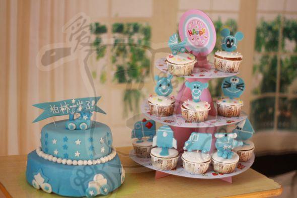 ...周岁蛋糕组 丫丫的美   1周岁生日蛋糕   咨询定做宝宝周岁...