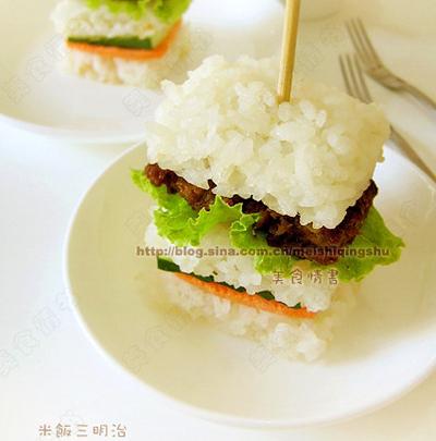 可以变换花样,用剩米饭做出各种美食,生活中需要这种有小心思的创意图片