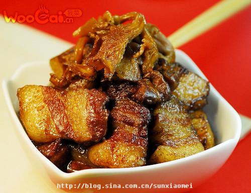 红烧肉炖黄蘑的做法_红烧肉炖黄蘑怎么做好吃