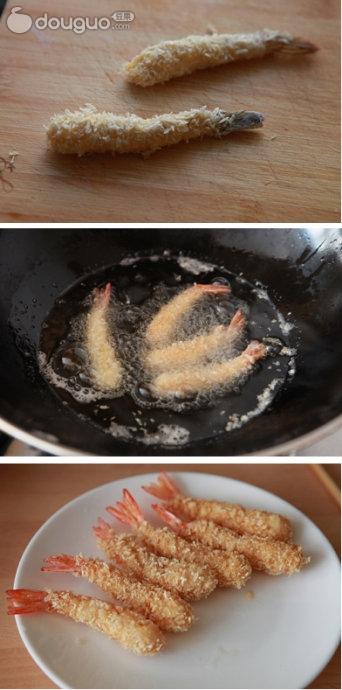 面包炸虾的做法图解4