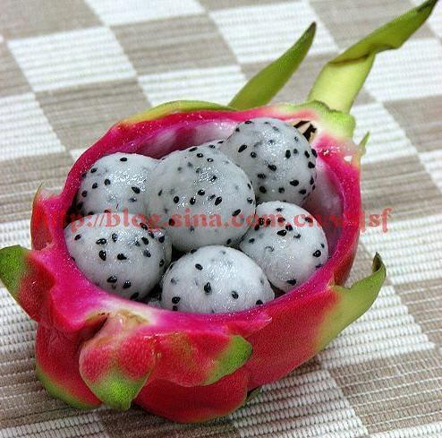 果盘 火龙果的4种切法 水果切法图解